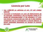 licencia por luto
