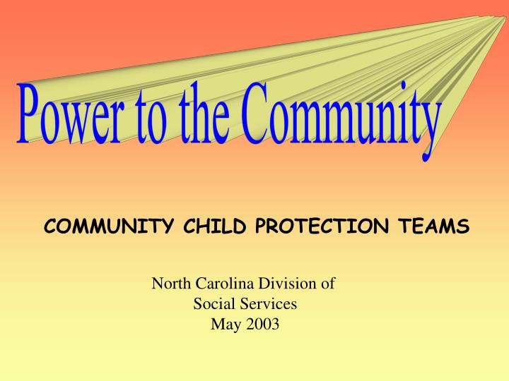 Power to the Community