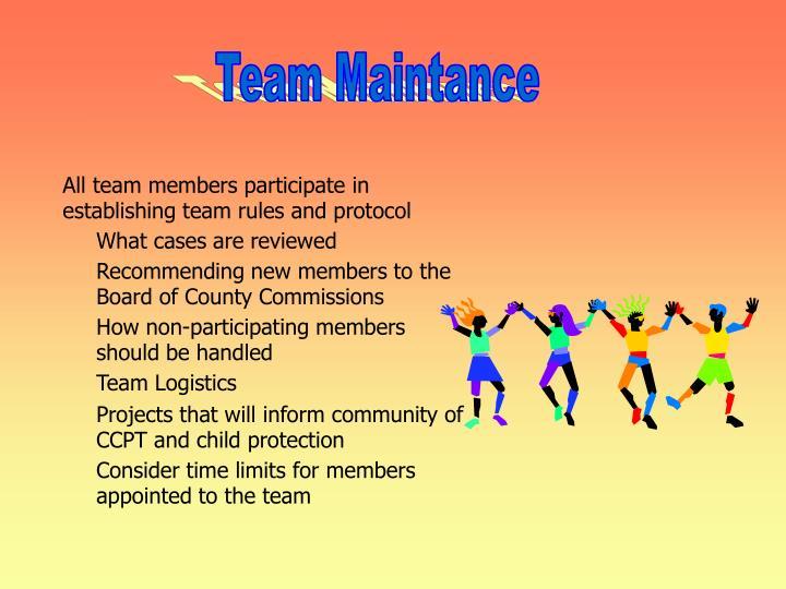 Team Maintance