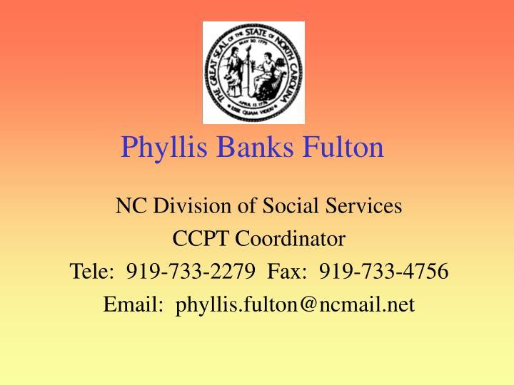 Phyllis Banks Fulton
