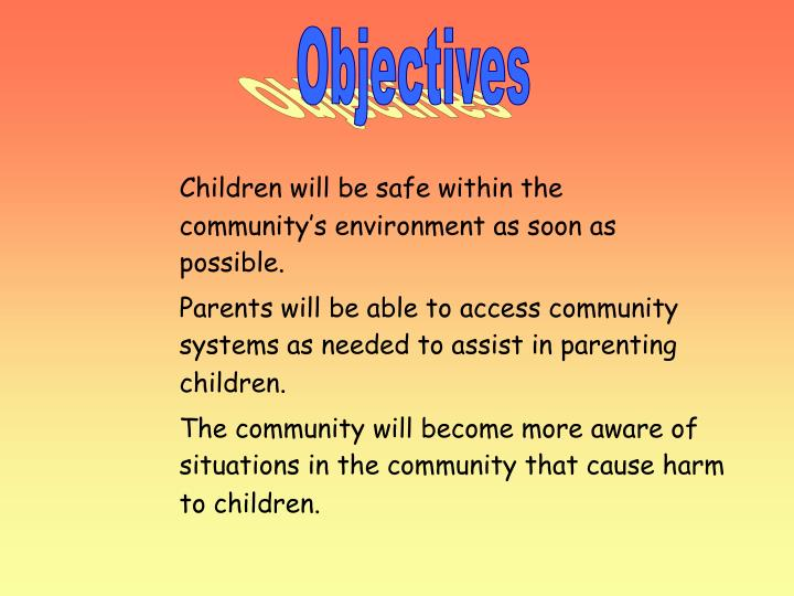 Children will be safe within the