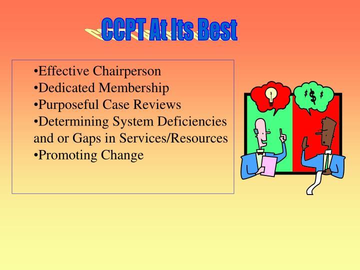 CCPT At Its Best