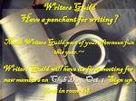 writers guild have a penchant for writing make writers guild part of your afternoon fun this year