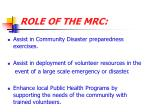role of the mrc