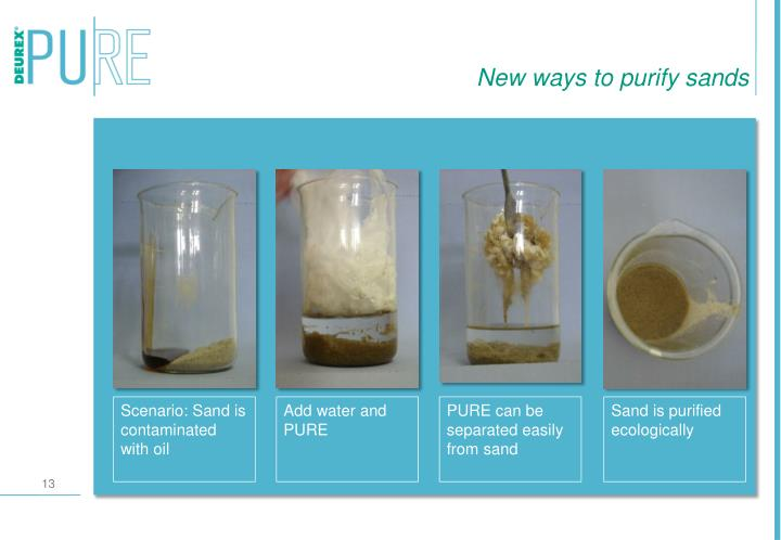 New ways to purify sands