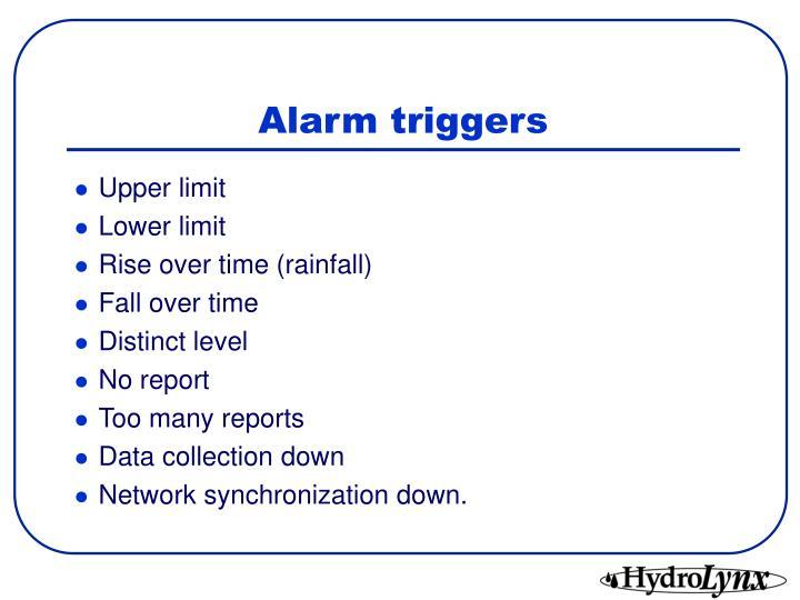 Alarm triggers