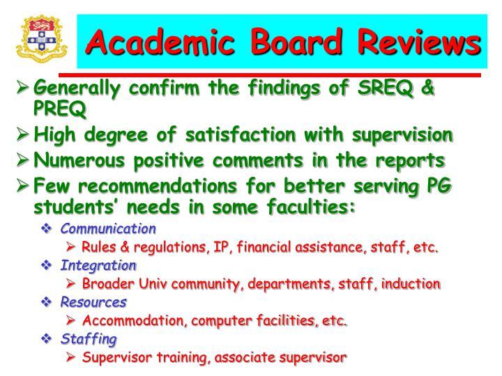 Academic Board Reviews