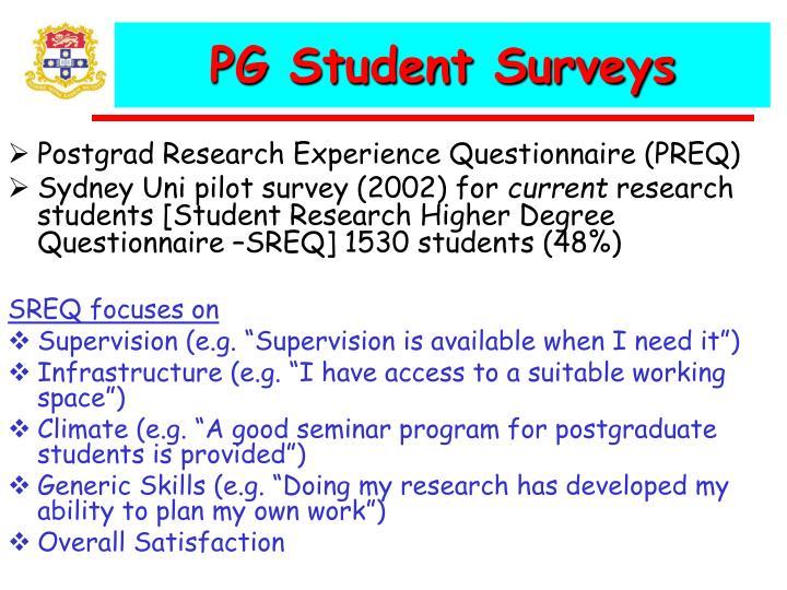 PG Student Surveys