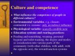 culture and competence