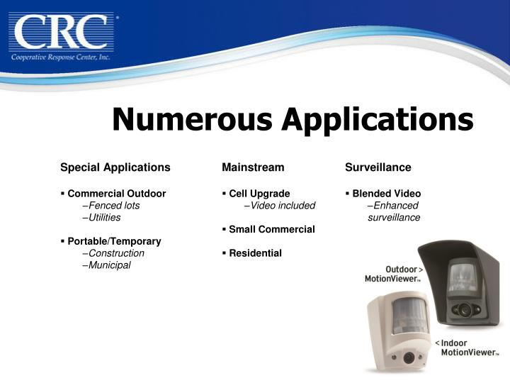 Numerous Applications
