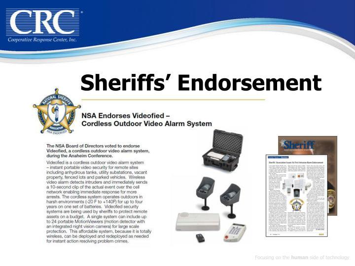 Sheriffs endorsement
