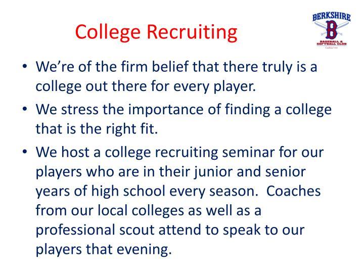 College Recruiting