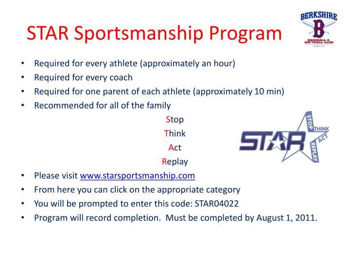 STAR Sportsmanship Program