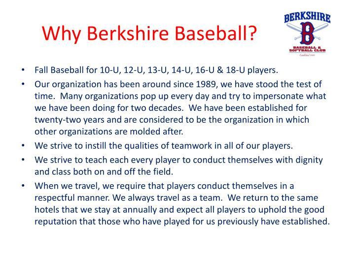Why berkshire baseball