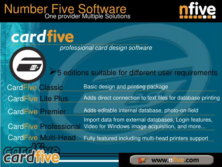 5 editions suitable for different user requirements