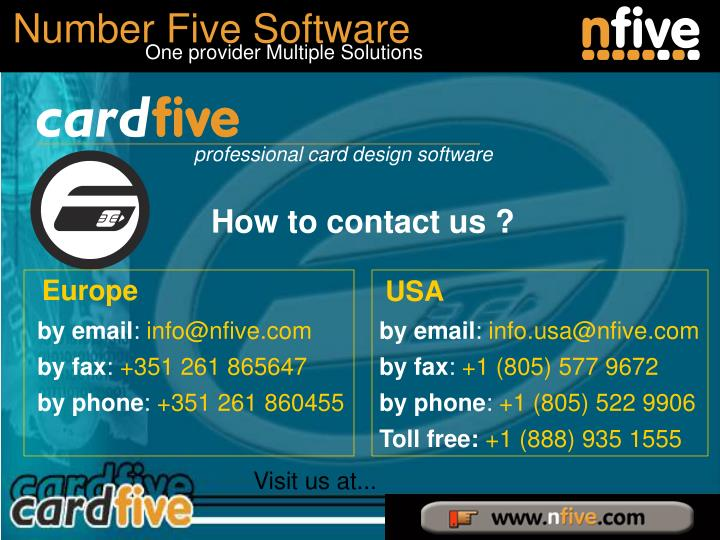 How to contact us ?