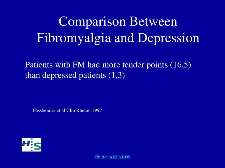 Comparison Between Fibromyalgia and Depression