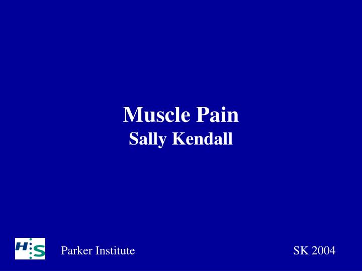 Muscle pain sally kendall