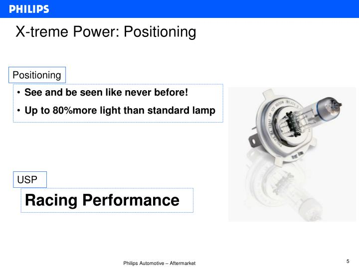 X-treme Power: Positioning