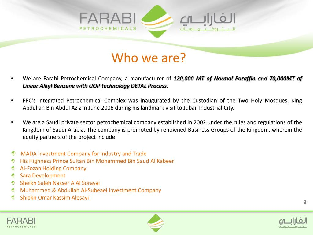 PPT - FARABI PETROCHEMICALS COMPANY PowerPoint Presentation - ID:5010647