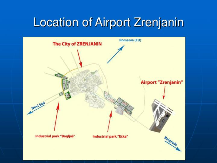 Location of Airport Zrenjanin