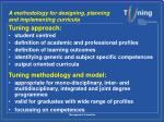 a methodology for designing planning and implementing curricula1