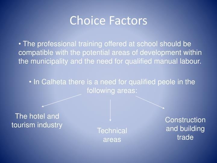 Choice Factors