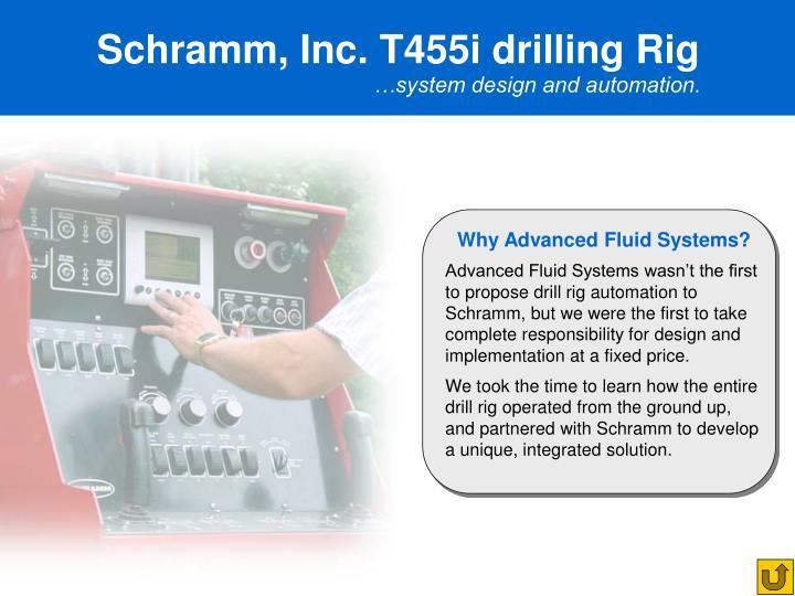Schramm, Inc. T455i drilling Rig