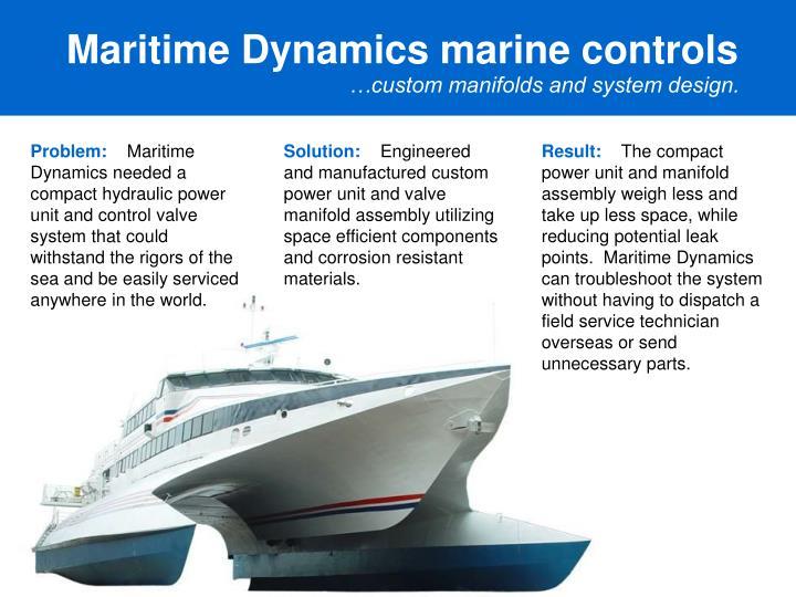Maritime Dynamics marine controls