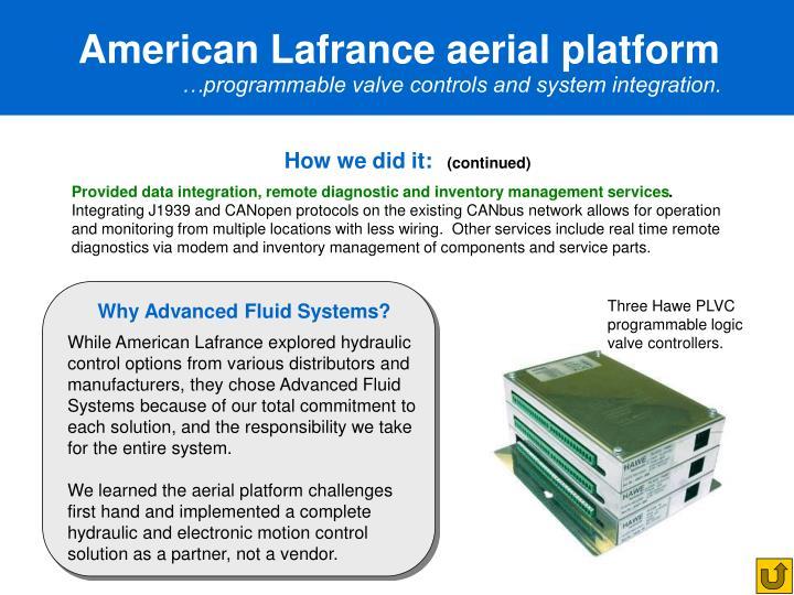 American Lafrance aerial platform