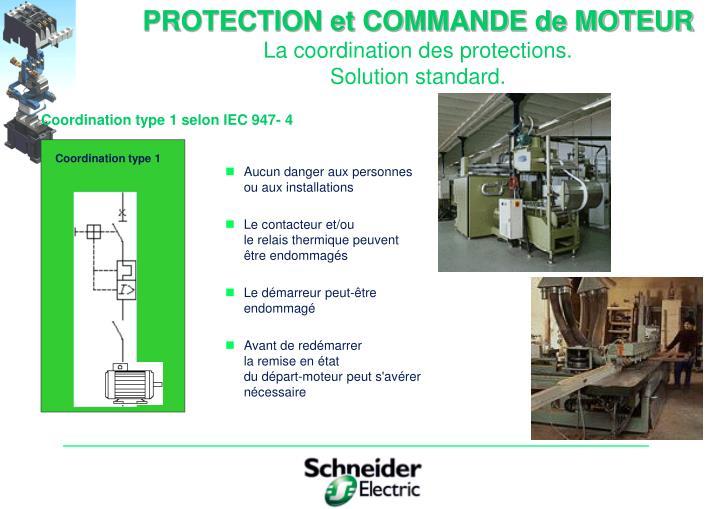 PROTECTION et COMMANDE de MOTEUR