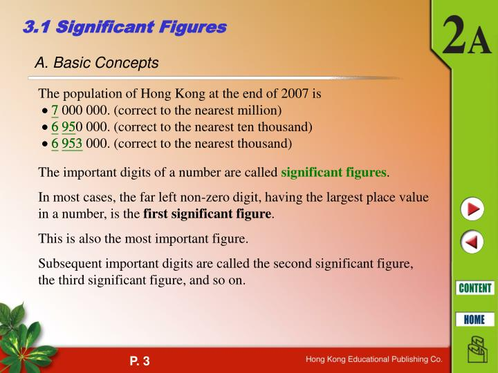 3 1 significant figures