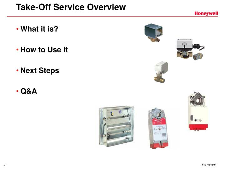 Take off service overview