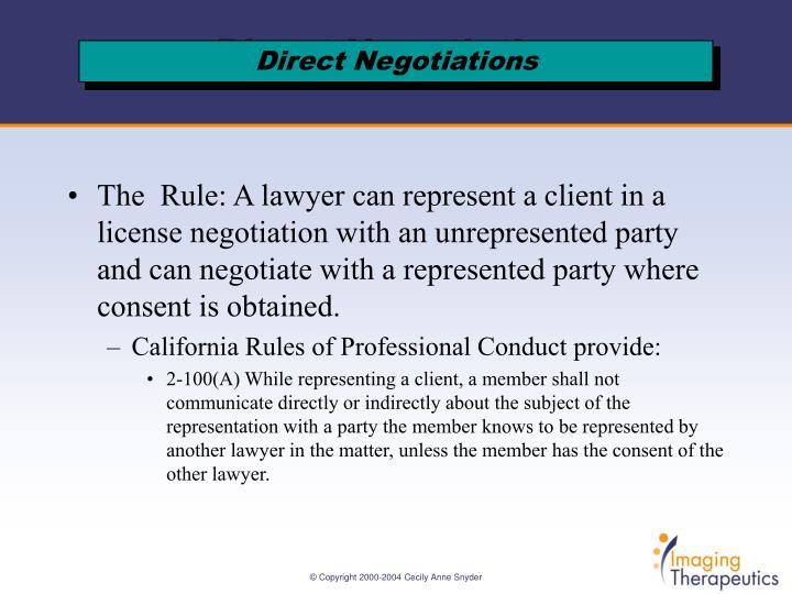 Direct negotiations