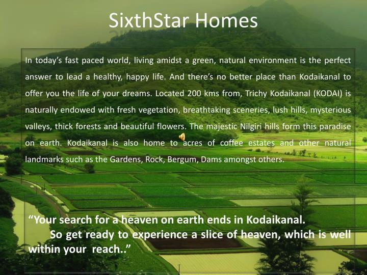 Sixthstar homes