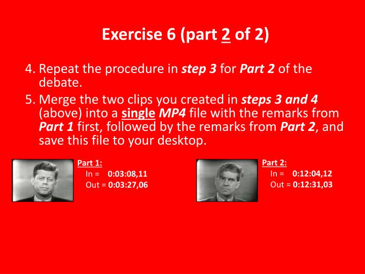 Exercise 6 (part