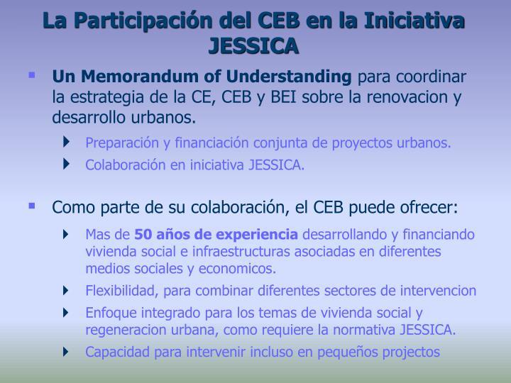 La Participación del CEB en la Iniciativa JESSICA