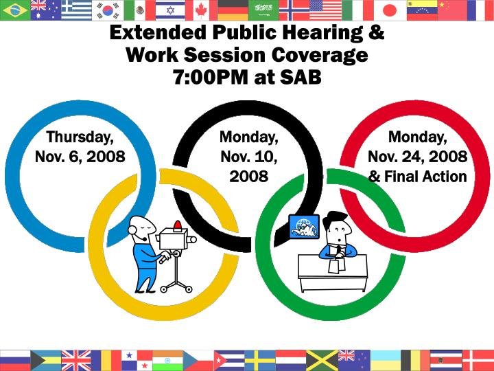 Extended Public Hearing &