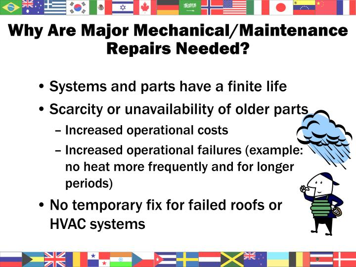 Why Are Major Mechanical/Maintenance Repairs Needed?