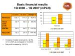 basic financial results 1q 2006 1q 2007 m pln