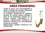area financiera