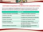 sibu sistema integrado de bienestar universitario