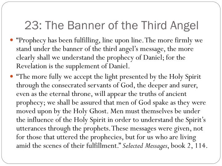23: The Banner of the Third Angel