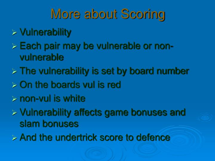 More about Scoring