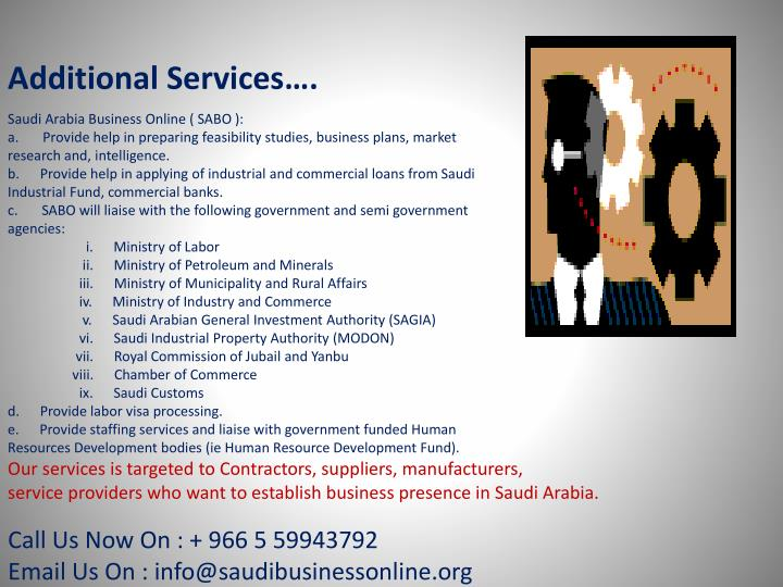 Additional Services….