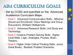 aim curriculum goals