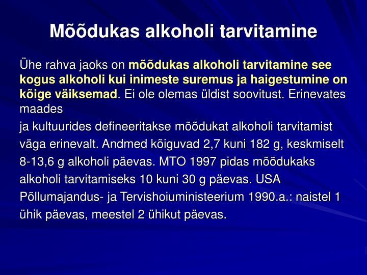Mõõdukas alkoholi tarvitamine
