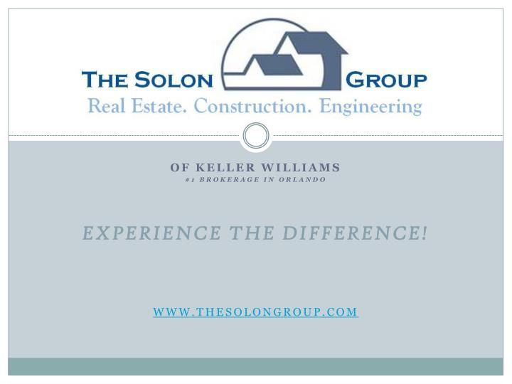 Of keller williams 1 brokerage in orlando experience the difference www thesolongroup com