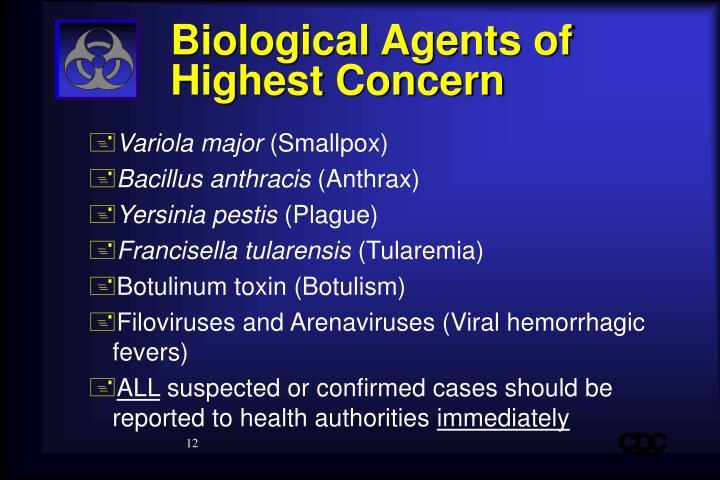 Biological Agents of