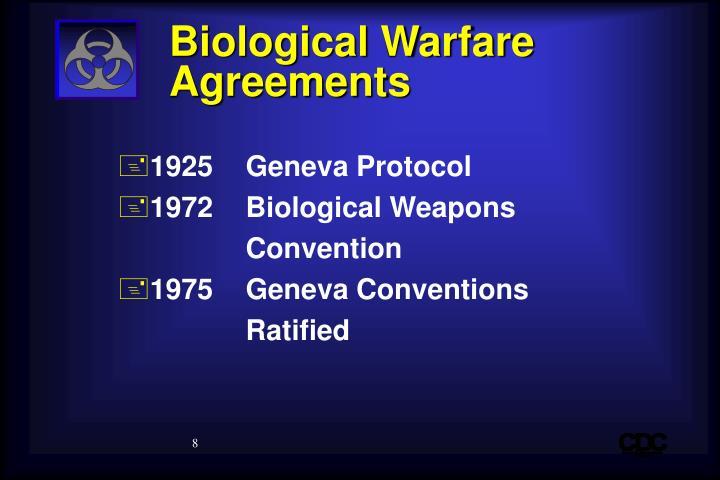 Biological Warfare Agreements